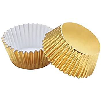 Warm party 0 Foil Baking Cups Cupcake Liners, Standard Sized, 200 Count (Gold),