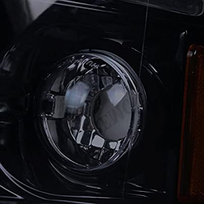 Spec-D Tuning 2LHP-RAM94G-TM Black Projector Headlight (Halo Led Gloss Housing With Smoked Lens): Automotive