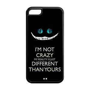 LJF phone case LeonardCustom Durable Protective Hard TPU Rubber Fitted Cover Case for ipod touch 5 , Cheshire Cat