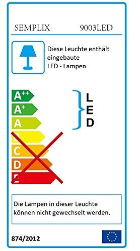 Linse 127 mm//dimmbar//Standfu/ß mit Rollen SEMPLIX LED Lupen-Stehlampe 3D wei/ß