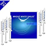 Bright White Smiles Teeth Whitening Kit, 35% Carbamide Peroxide Gel for Professional Results at Home, Whiter Smile Refill System includes: 5X Syringes, Trays not included