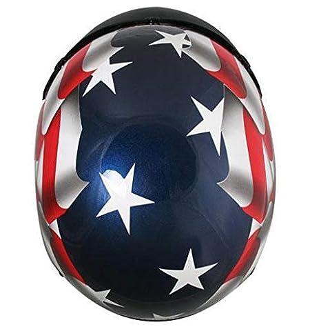Outlaw T70 DOT 3D American Flag Half Face Helmet with Visor X-Small