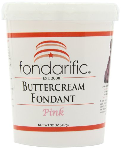 (Fondarific Buttercream Pink Fondant, 2-Pounds )