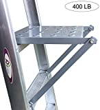 Ladder Platform Accessory, Anti-Slip Heavy Duty Step Ladder Work Stand System Accessories 400 Pound Rated (Classic)