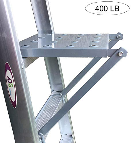 (Ladder Platform Accessory, Anti-Slip Heavy Duty Step Ladder Work Stand System Accessories 400 Pound Rated (Classic))
