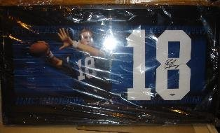 Peyton Manning Autographed Signed Colts Jersey Number Piece Upperdeck UDA (Signed Peyton Manning Jersey)