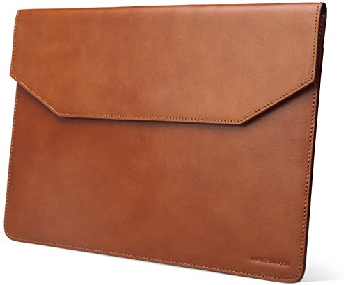 Kasper Maison Italian Leather Laptop Sleeve for 13 Inch New Macbook Pro Touch Bar 2016 / 2017 and Microsoft Surface Pro - Envelope Case for computer, notebook and ultrabook - Signature Gift Included by Kasper Maison