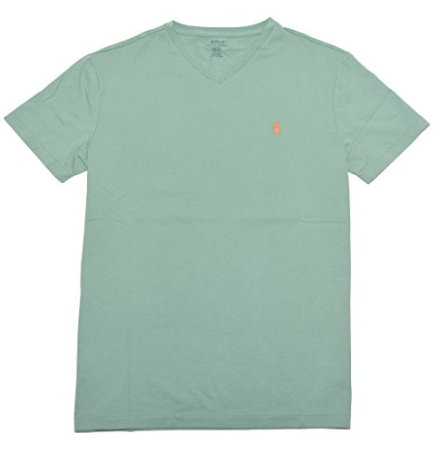 Polo Ralph Lauren Herren V-Neck Shirt T-Shirt dusted ivy Größe S