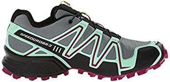 Salomon Women's Speedcross 3 Cs W Trail Running Shoe, Light Ttlucite Greenmystic Purple, 5 B Us 6