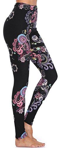 Opaque Fashion Leggings - BAILYDEL Women's Ultra Soft Printed Ankle Leggings Fashion Seamless Stretch Pants Size XL-2XL