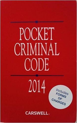 Pocket Criminal Code 2014: Gary P. Rodrigues: 9780779853014 ...