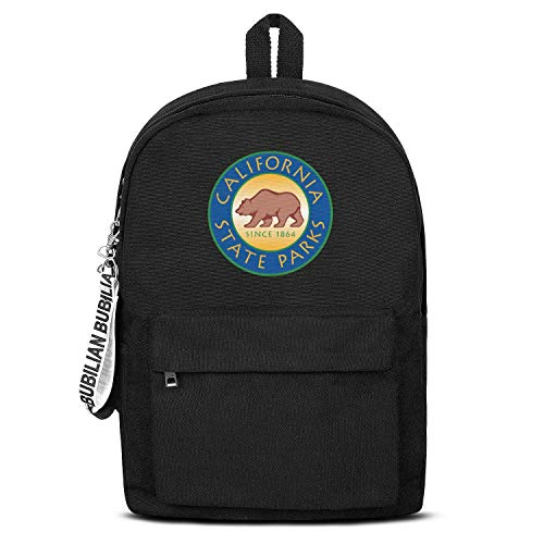 California Department of Parks and Recreation Logo Boy's Convenient Black Letter Canvas School Backpack Work Bag