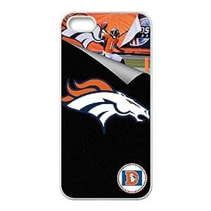 Denver Broncos Team Logo iPhone 5 5s Cell Phone Case White 218y3-214566