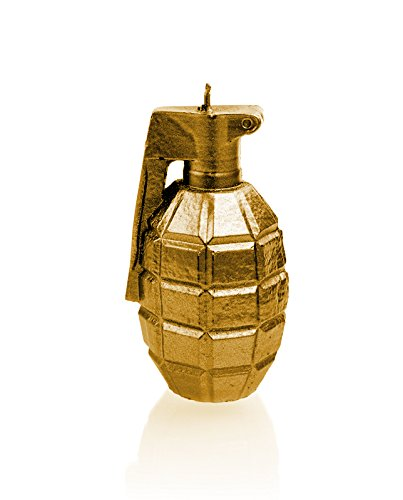 Candellana Candles 5902650677470 Grenade Candellana- Grenade Candle-Gold,Gold by Candellana Candles