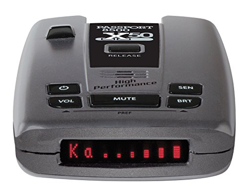 Escort Passport 8500X50 Black Radar Detector, Red Display