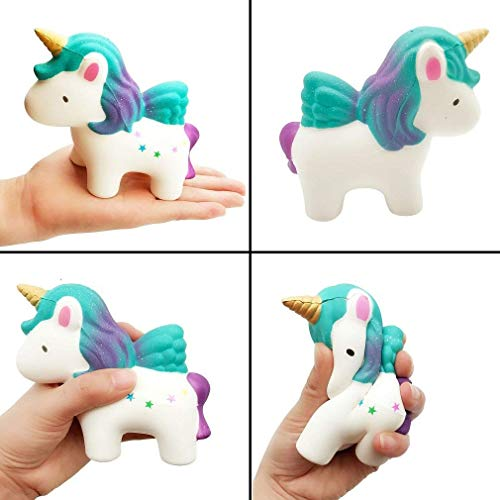 EMallee Slow Rising Jumbo Squishy 4 Pack Kawaii Panda and Narwhale  Cake,Unicorn Donut,Unicorn Cream Scented Kids Toys Doll Fun Collection  Stress