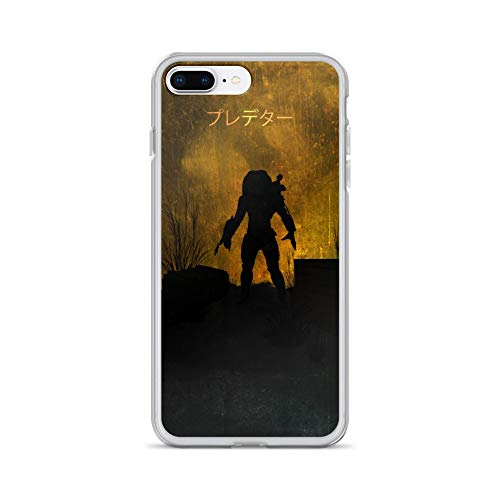 (iPhone 7 Plus/8 Plus Case Anti-Scratch Motion Picture Transparent Cases Cover Predator Minimalistic Action Movies Video Film Crystal)