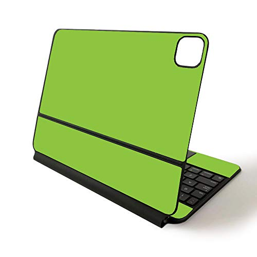 MightySkins Skin for Apple Magic Keyboard for iPad Pro 11-inch (2020) - Sushi | Protective, Durable, and Unique Vinyl Decal wrap Cover, Solid Lime Green