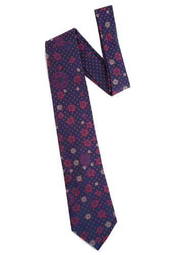 Fleeting Woven Tie in navy red