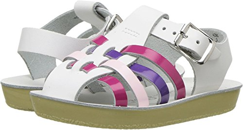 - Salt Water Sandals by Hoy Shoe Girls' Sun-San Sailor Flat Sandal, Multi, 4 M US Toddler