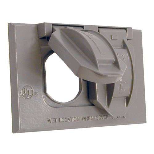 Hubbell-Bell 5180-0 Horizontal Duplex Single Gang Weatherproof Cover