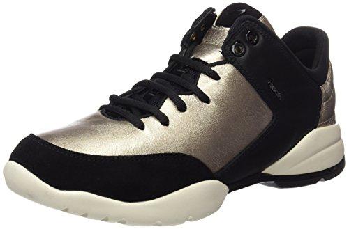 Geox Women's D Sfinge a Fashion Sneaker Gold (Champagne/Blackcb59b) JdLuG