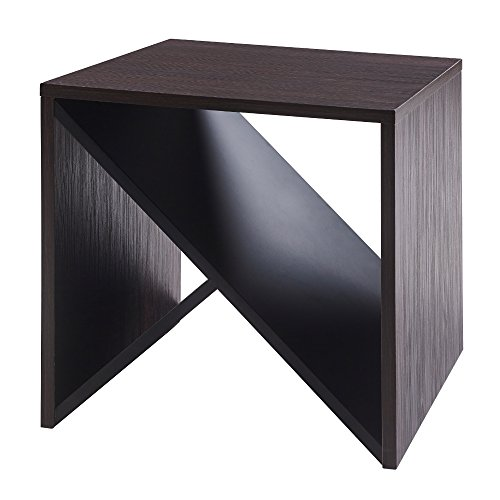 Versanora - Bloccare Side Table - Mocha/Black