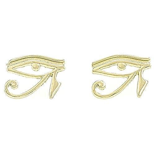 GWOOD Eye Of Horus Earrings Gold Color Post Positive Protective Spirit Egyptian