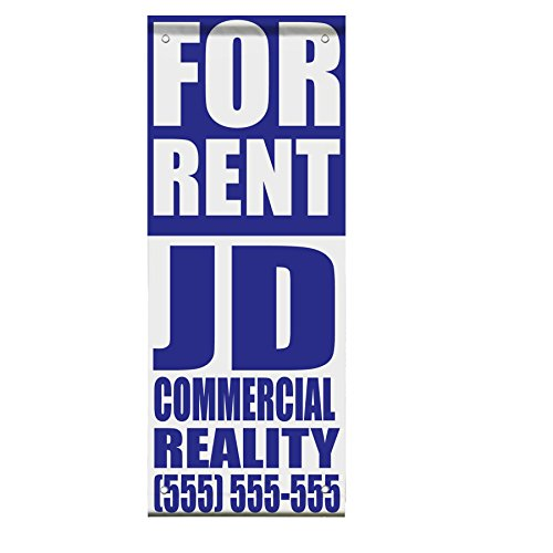 For Rent Custom Name Phone Number Blue Double Sided Verti...
