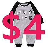 Minilove Baby Boys Girls Hug Life Letter Print Long