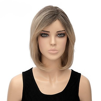 Adult Multi Color Mohawk Party Wig (2017 Trendy Fashion Natural Middle Length Multi-color Straight Wigs Synthetic Wig)