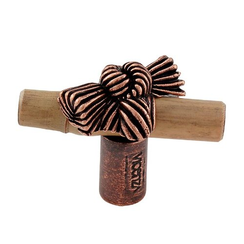 Antique Copper Vicenza Designs K1128 Palmaria Bamboo Knot Knob Small