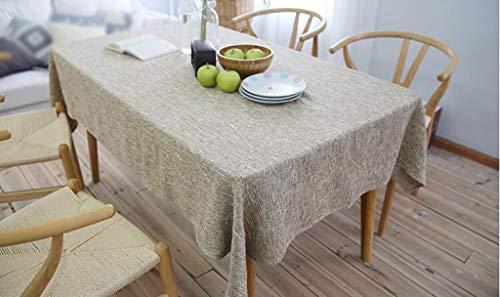 2 180cm diameter ZXL Nappe de Style européen Simple Couleur Unie Coton Lin Home Home Rectangle de Style Simple (Couleur    2, Taille  180cm de diamètre)