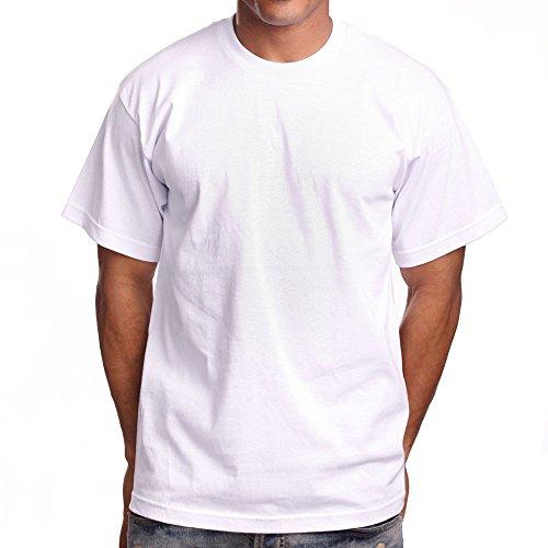 Pro White T-shirt - PRO 5 Super Heavy Mens T-Shirt, Large Tall, White