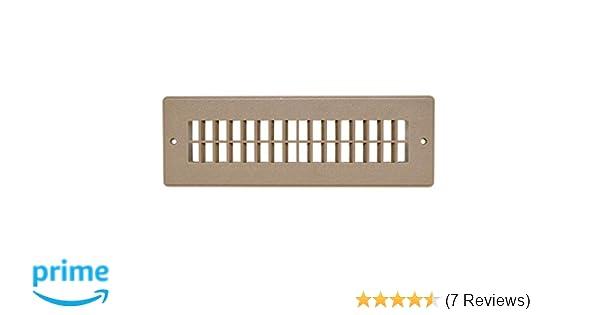 Light Brown Valterra A10-3365VP Heating and A//C Floor Register 2-1//4 x 10