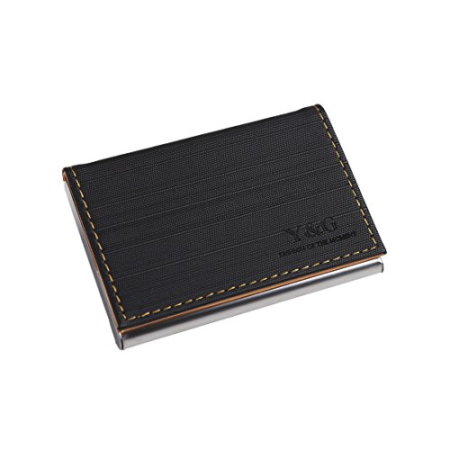 Y&G Mens Fashion Leather PU Unisex Business Card Case with Magnetic