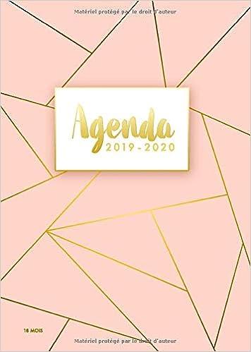 Agenda 2019/2020 - 18 Mois: Agenda organiseur pour ton ...