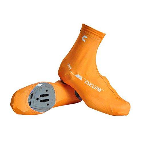 Masterein 1 par de ciclismo de ciclismo cubierta de los zapatos de bicicleta de montaña cubierta protectora de la bota caliente Amarillo