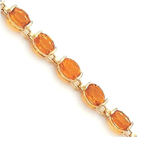 IceCarats 14k Yellow Gold 7in Citrine Bracelet 7.25 Inch