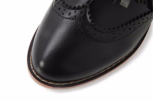 damas fringe con Invierno cortas Vintage botas Black grande Otoño e botas Terry tamaño SqfxEWYn