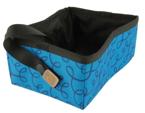 Ollydog Lapper Travel and Tray Bowl, Blue Loops