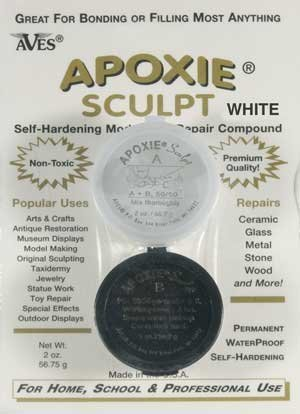 Apoxie Sculpt 1/4 lb. White, 2 part modeling compound (A & B)