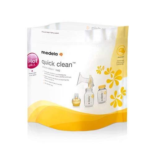 Medela Quick Clean Micro-Steam Bags, 2 Packs of 5 bags by Medela