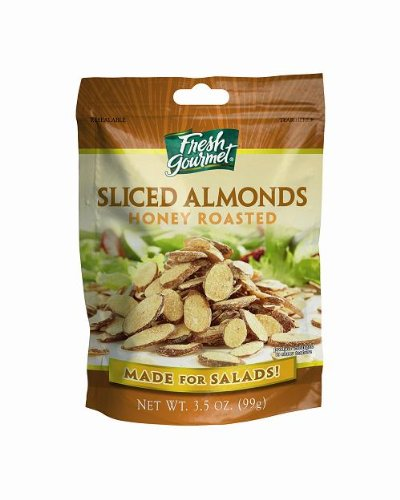 Fresh Gourmet Sliced Almonds, Honey Roasted, 3.5-Ounce (Pack of 9)