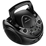 Memzuoix Portable CD Player Stereo CD, CD-R and CD-RW Boombox with AM/FM Radio and Aux Line-in Input