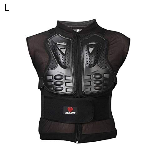 Motorcycle Armor Vest Protector Sleeveless Body Armor Riding Chest Armor Back Protector Armor Motocross Off-Road Racing Vest Size L
