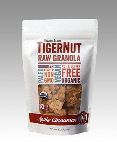 TigerNut Raw Granola Apple - Cinnamon, net wt 8oz,( pack of 6) -