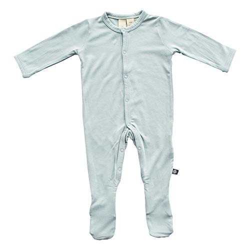 KYTE BABY Footies - Baby Footed Pajamas Made of Soft Organic Bamboo Rayon Material - 0-24 Months - Solid Colors (18-24 Months, Sage)
