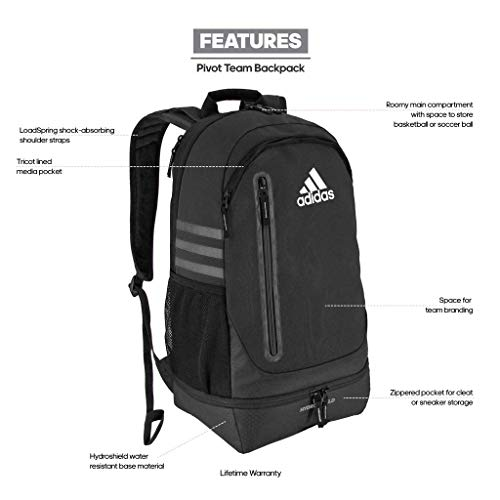 6abdd288f7c1 adidas Unisex Pivot Team Backpack