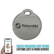 Smart Luggage ID Tags with Lifetime Global Recovery Service (Silver - 1 Pack)